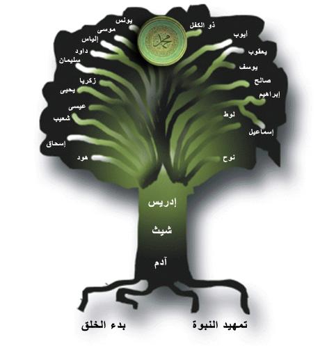 شجرة الانبياء بالترتيب...